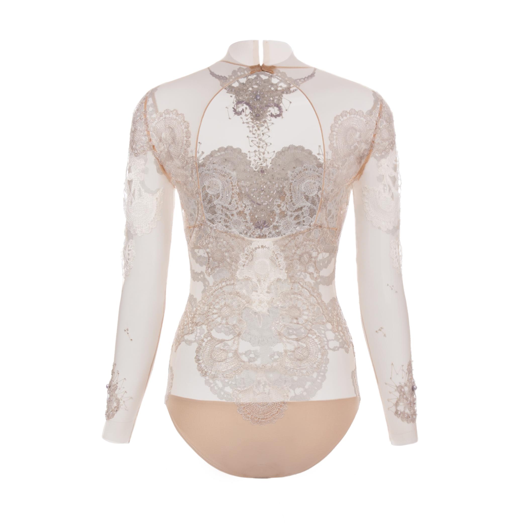 72e1d20ffb Zoom in. KV Couture by Kristina Viirpalu. Cream White Bodysuit
